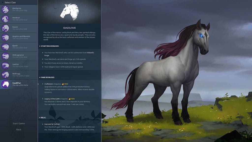 Northgard - Svardilfari, Clan Of The Horse Download For Mac